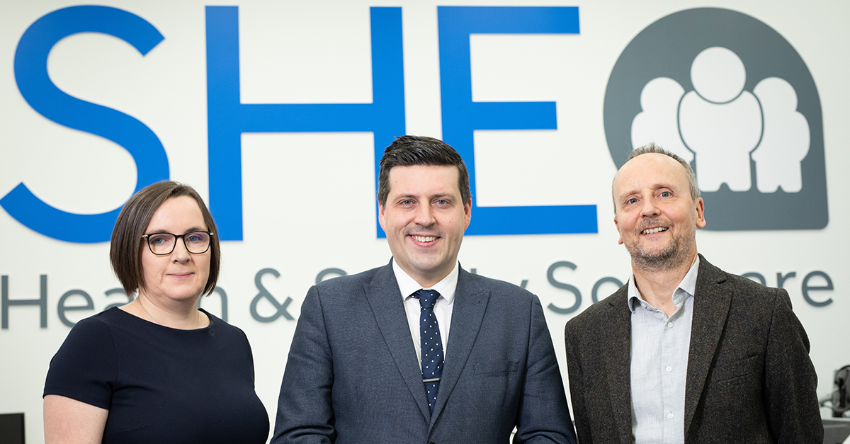 SHE Software are visited by Jamie Hepburn, Minister for Business
